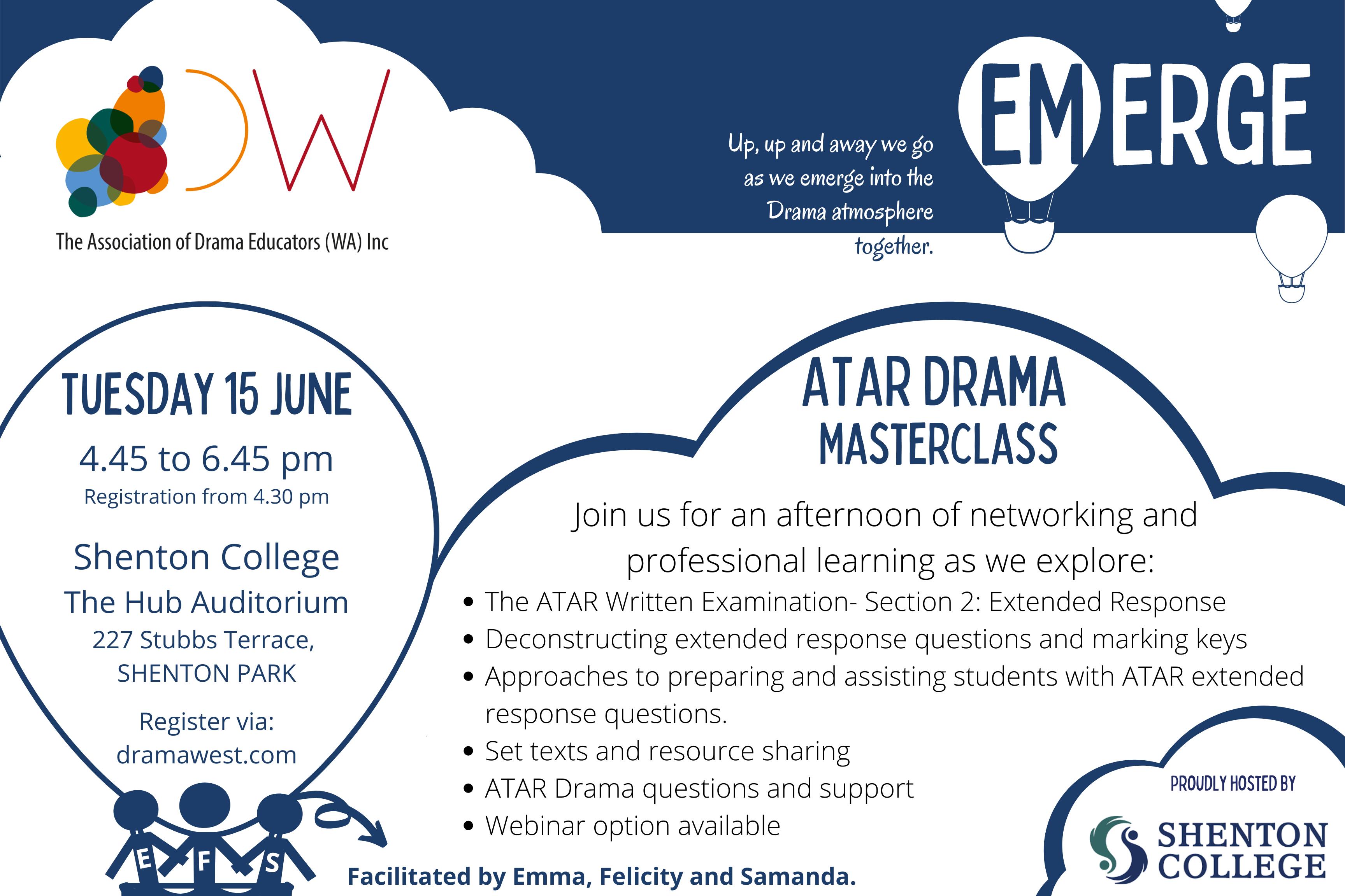 Emerge Graphic- ATAR Drama Masterclass- 15 June- Final